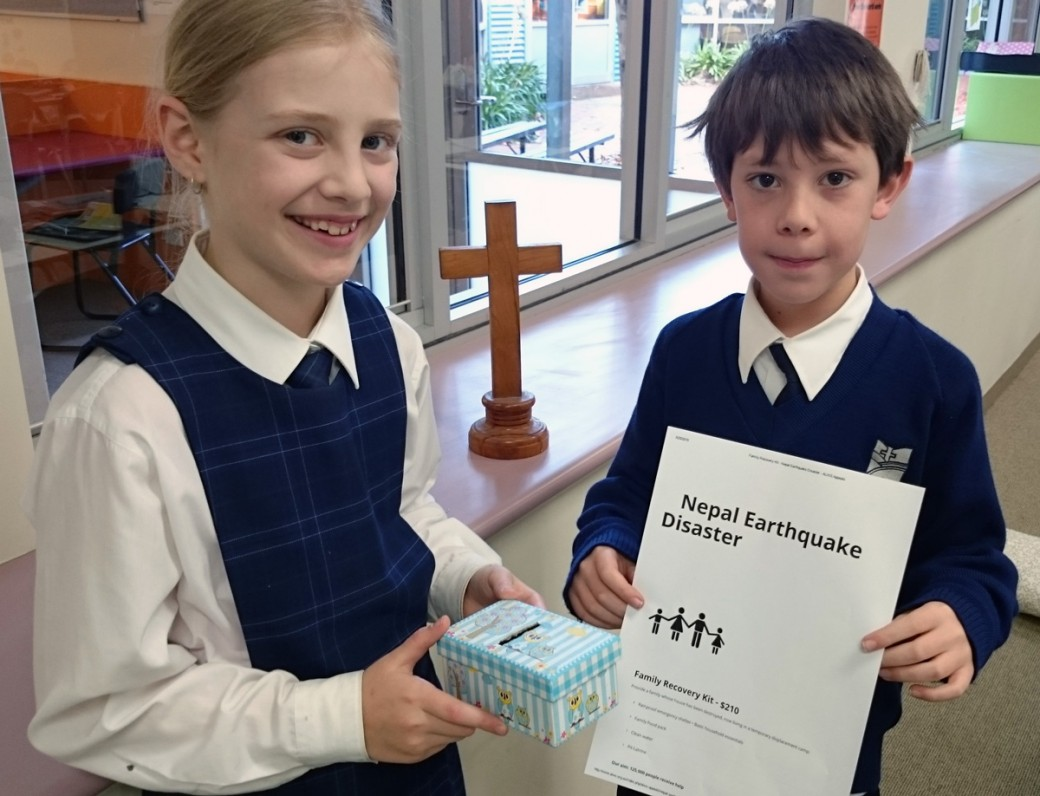 Students at St Peters take action for Nepal Earthquake victims